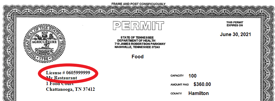 Your License Number can be found on your Permit.